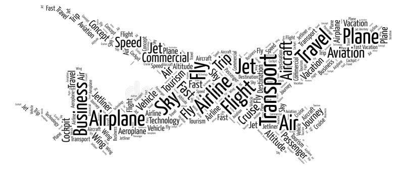 Nube de la palabra del aeroplano libre illustration