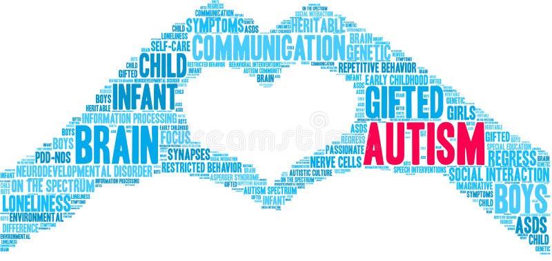 Nube de la palabra del autismo libre illustration