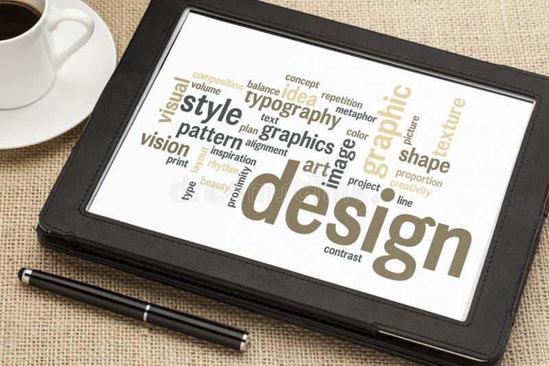 Nube de la palabra del diseño gráfico imagenes de archivo