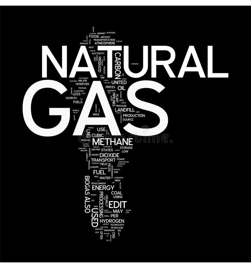 Nube de la palabra del gas natural stock de ilustración
