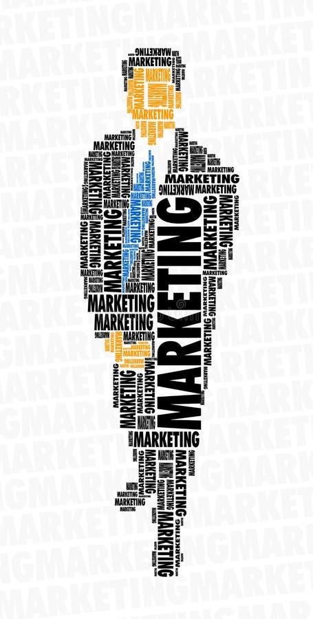 Nube de la palabra del hombre de negocios - comercialización fotografía de archivo libre de regalías