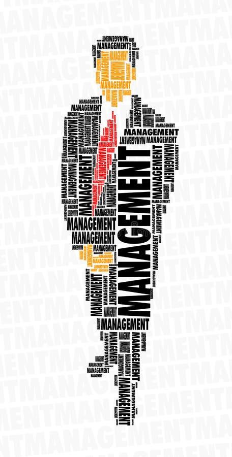 Nube de la palabra del hombre de negocios - gerencia foto de archivo libre de regalías