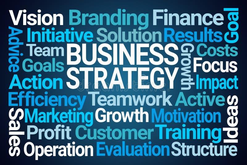Nube de la palabra de la estrategia empresarial ilustración del vector