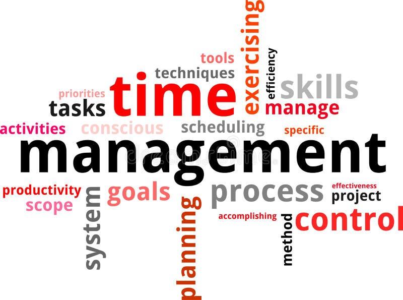 Nube de la palabra - gestión de tiempo ilustración del vector