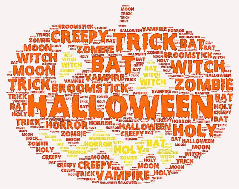 Nube de la palabra de Halloween foto de archivo