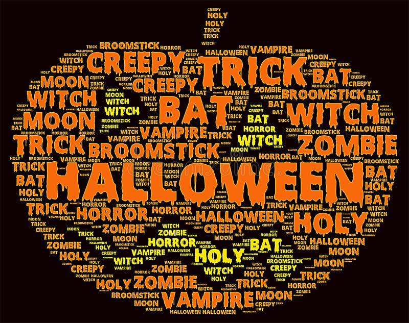 Nube de la palabra de Halloween fotos de archivo libres de regalías