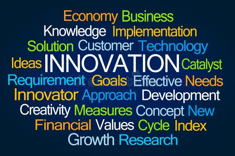 Nube de la palabra de la innovaci?n ilustración del vector