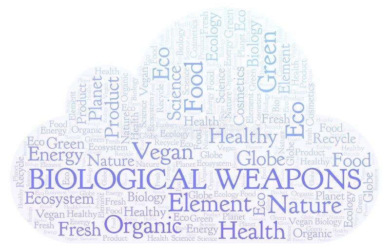Nube de la palabra de las armas biológicas ilustración del vector