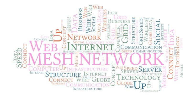 Nube de la palabra de Mesh Network stock de ilustración