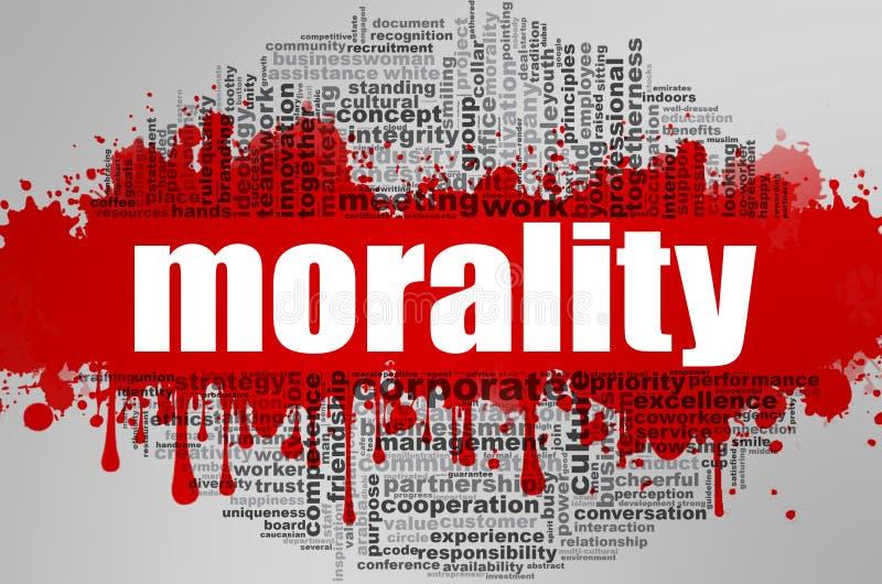 Nube de la palabra de la moralidad libre illustration