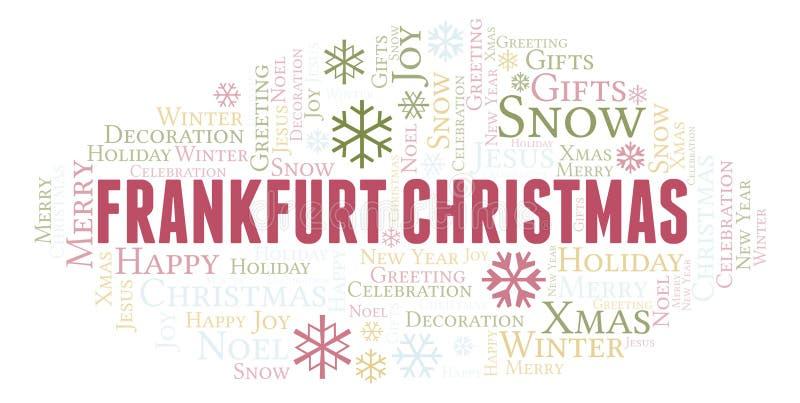 Nube de la palabra de la Navidad de Francfort libre illustration