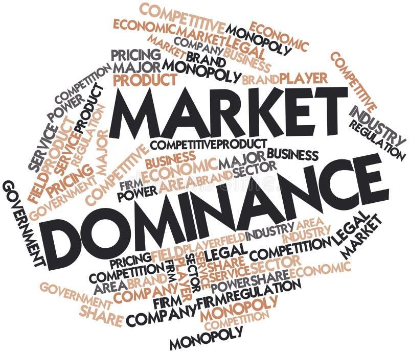 Nube de la palabra para la dominación del mercado ilustración del vector