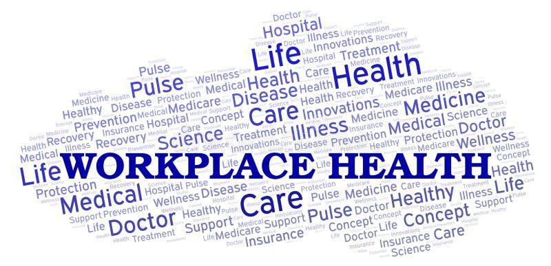 Nube de la palabra de la salud del lugar de trabajo stock de ilustración