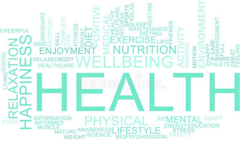 Nube de la palabra de la salud libre illustration