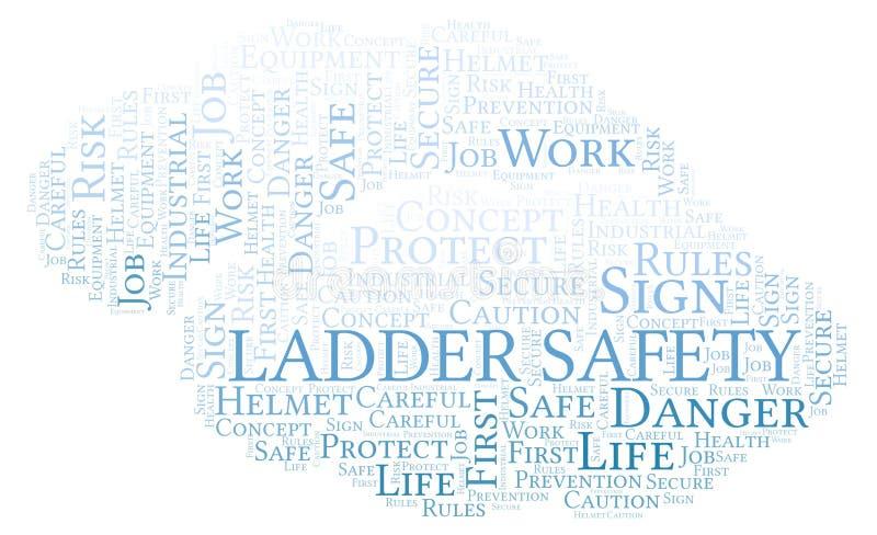 Nube de la palabra de la seguridad de la escalera stock de ilustración