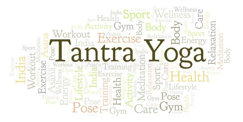 Nube de la palabra de la yoga del Tantra stock de ilustración
