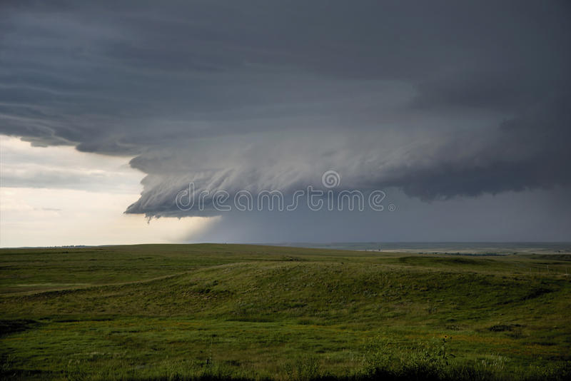 Nube de la pared de la tormenta fotos de archivo