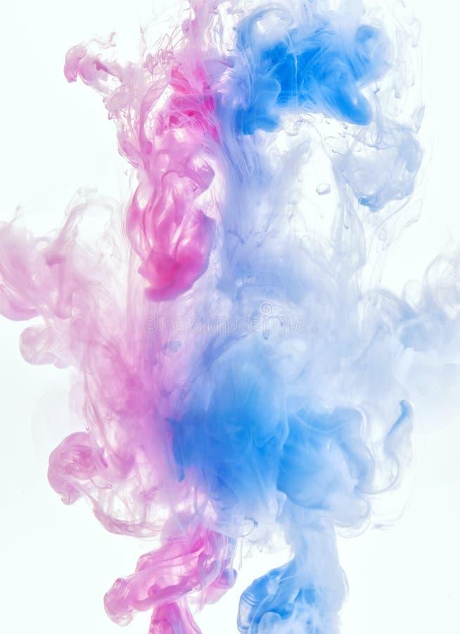 Nube de la tinta en el agua fotografía de archivo