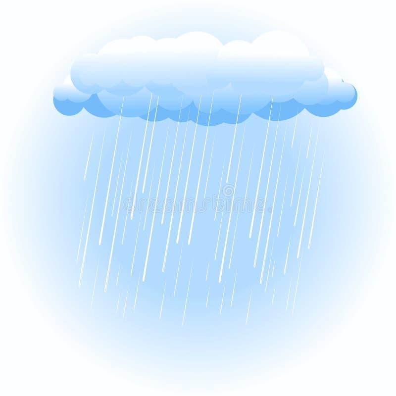 Nube de lluvia en blanco libre illustration