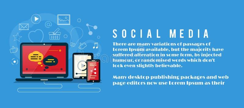 Nube de los iconos de la aplicación Media sociales stock de ilustración