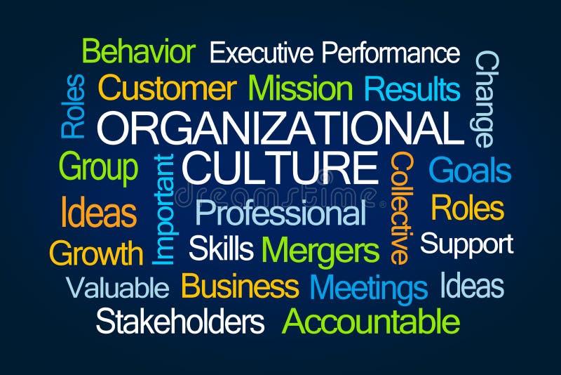 Nube de organización de la palabra de la cultura stock de ilustración