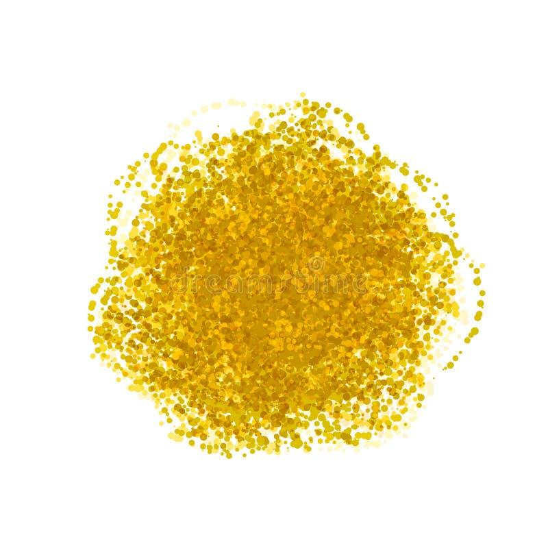 Nube de oro del confeti del vector, explosión de papel de los círculos de la hoja aislada, imagen festiva stock de ilustración