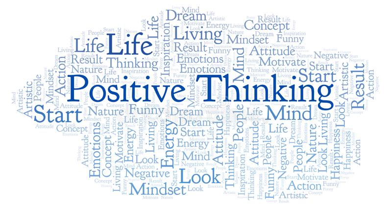 Nube de pensamiento positiva de la palabra, hecha con el texto solamente libre illustration