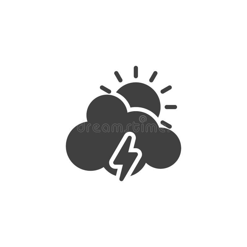 Nube de Sun con la iluminación del icono del vector libre illustration