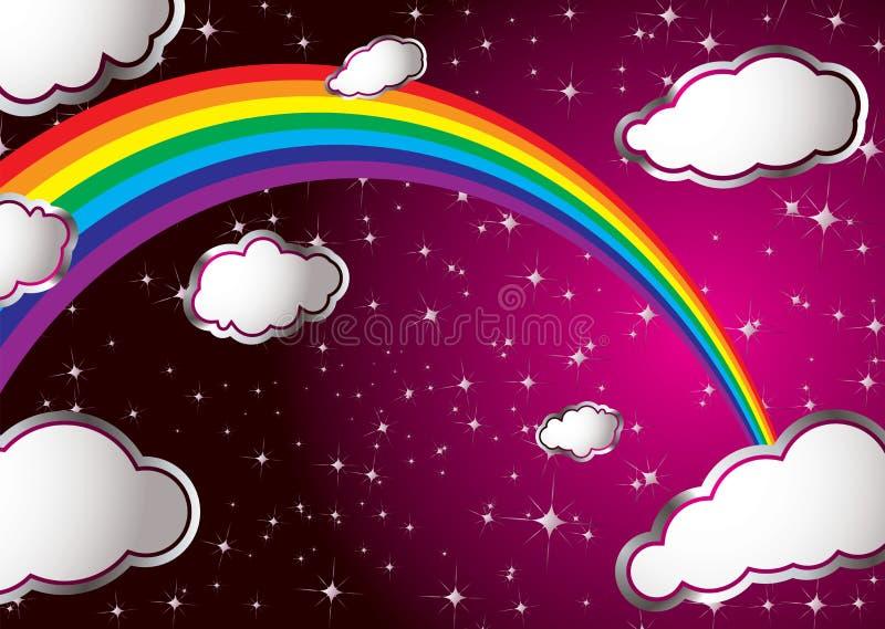 Nube del arco iris ilustración del vector