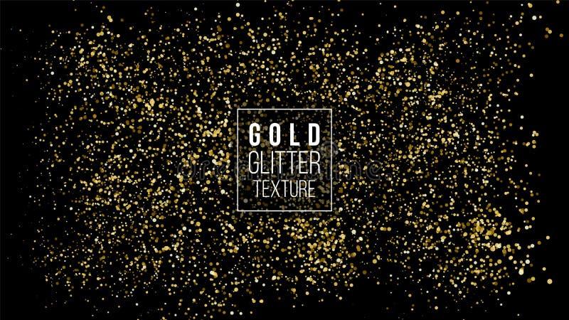 Nube del brillo del oro o textura brillante de la explosión de las partículas Efecto de oro de lujo de las chispas Fondo de la os libre illustration