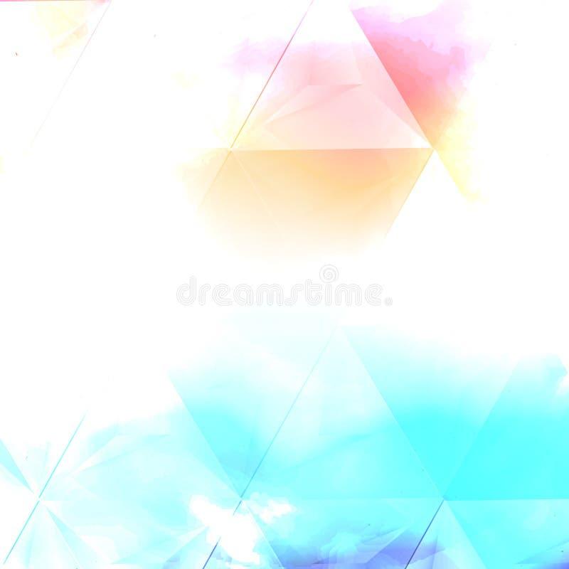 Nube del color de agua del vector stock de ilustración