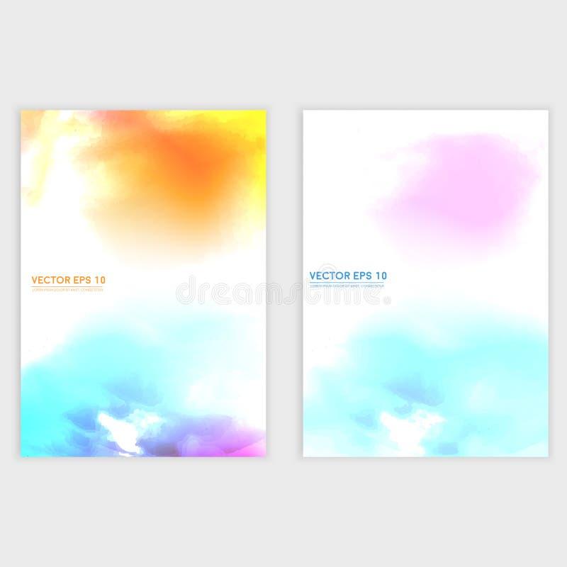 Nube del color de agua del vector ilustración del vector