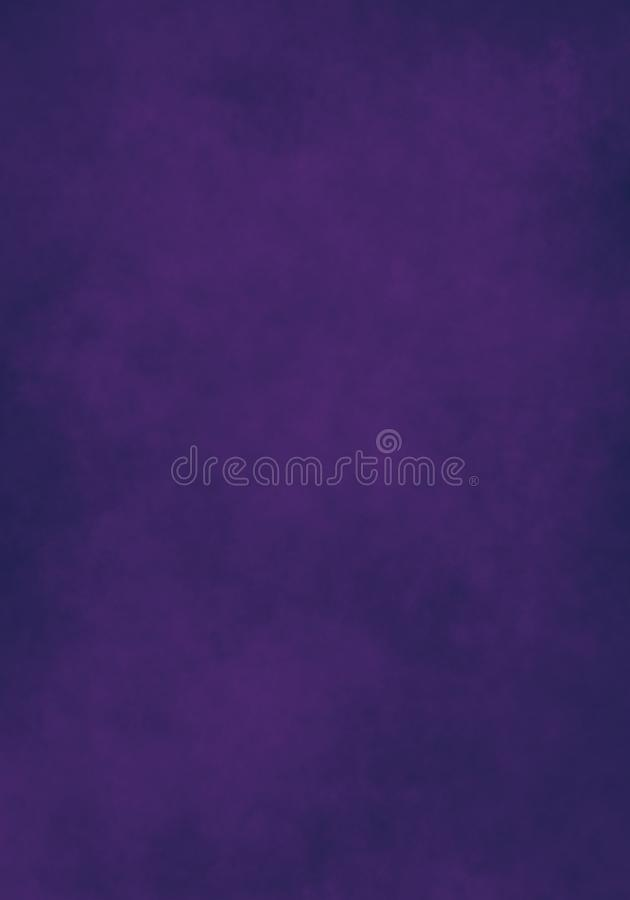 Nube del color de agua, papel viejo, fondo púrpura oscuro de la pared libre illustration