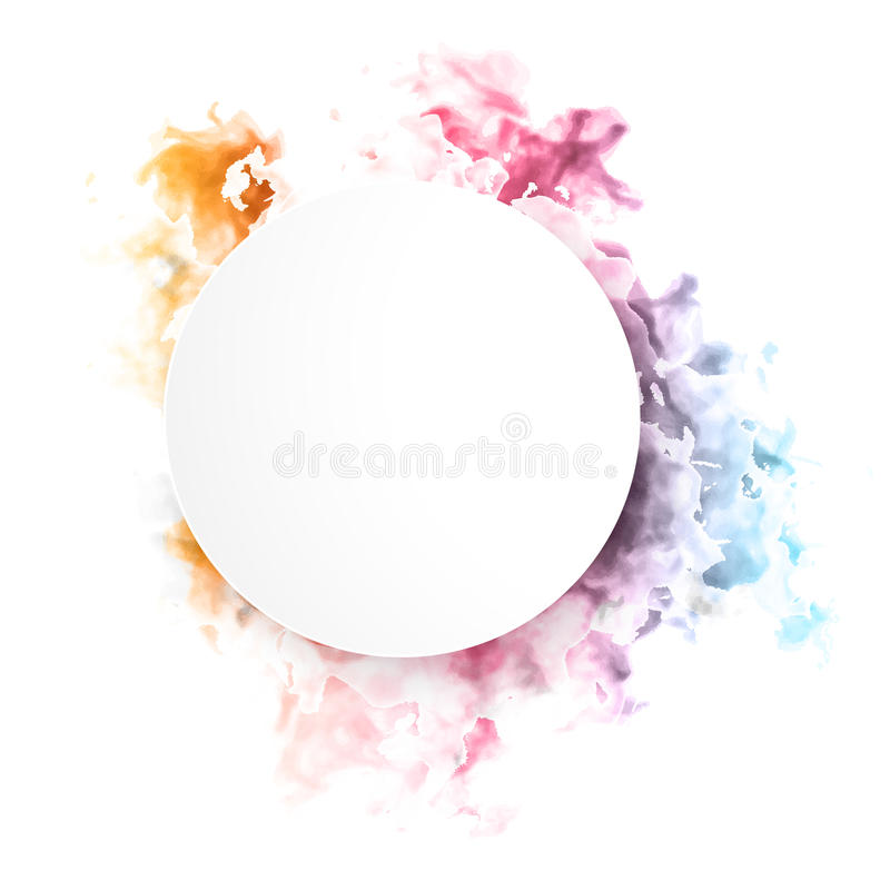 Nube del color del vector stock de ilustración