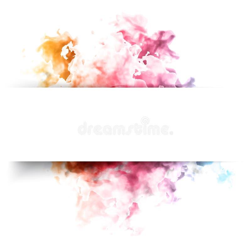 Nube del color del vector ilustración del vector