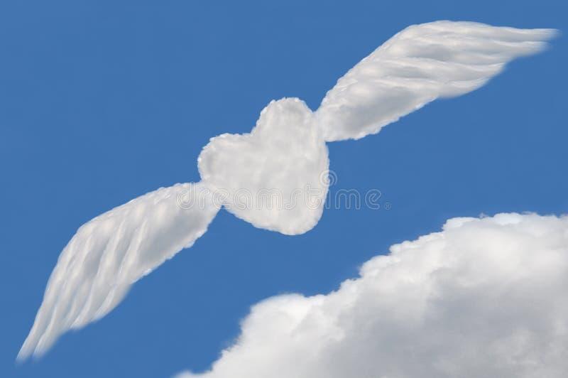 Nube del corazón, rectángulo de texto imágenes de archivo libres de regalías