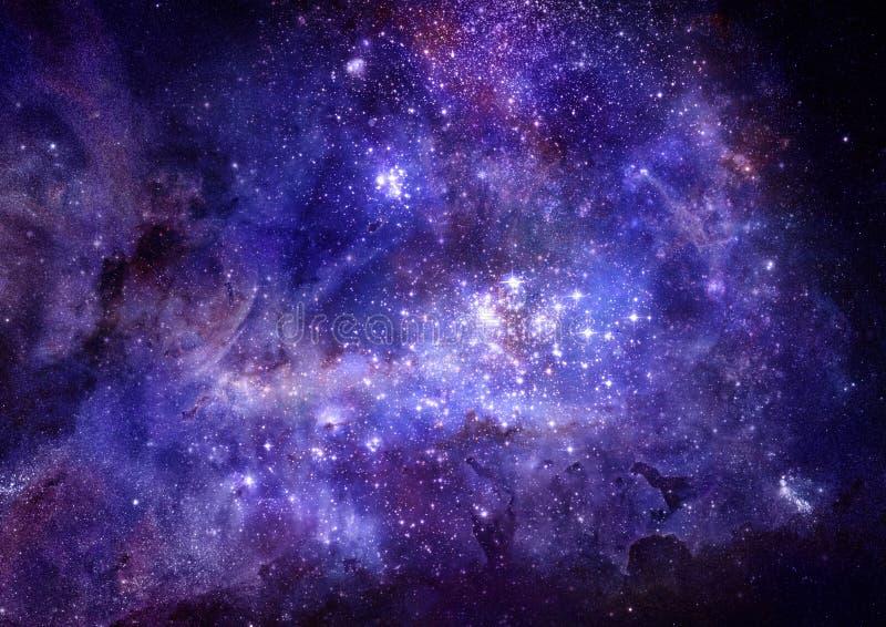 Nube del gas de la nebulosa en espacio exterior profundo stock de ilustración