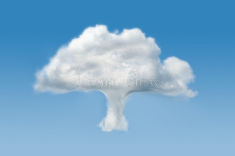 Nube dell'albero fotografia stock libera da diritti