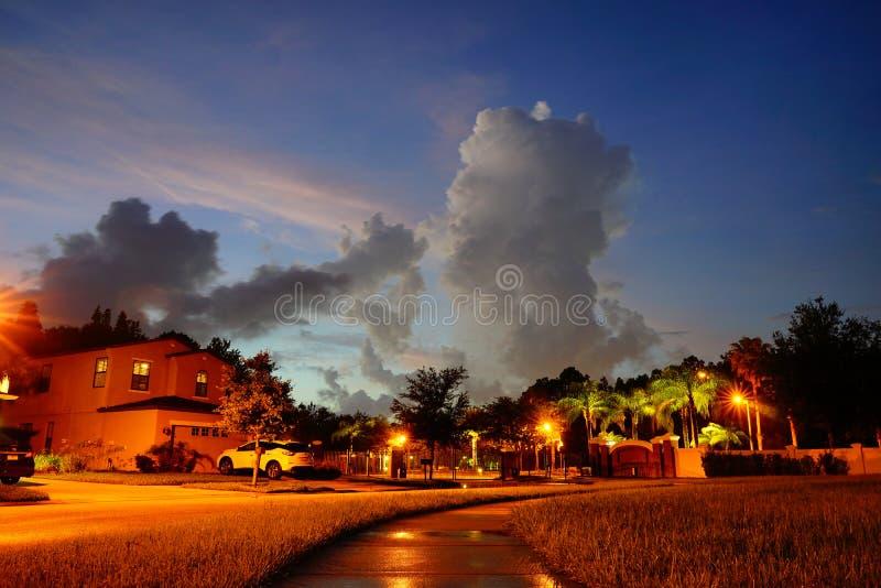 Nube determinada de Sun en la Florida fotografía de archivo