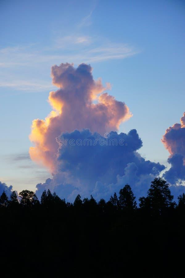 Nube determinada del sol de la Florida foto de archivo