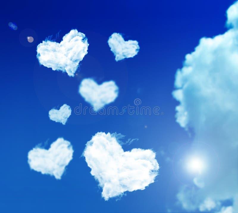 Nube di amore fotografia stock
