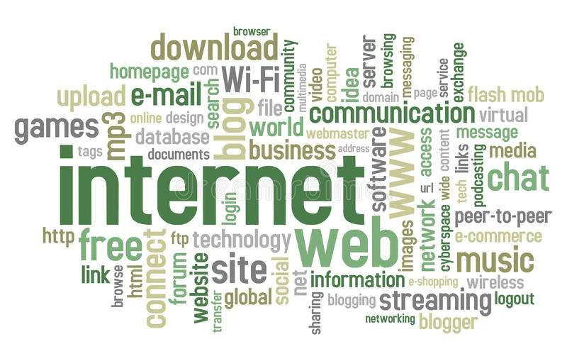 Nube di parola del Internet royalty illustrazione gratis