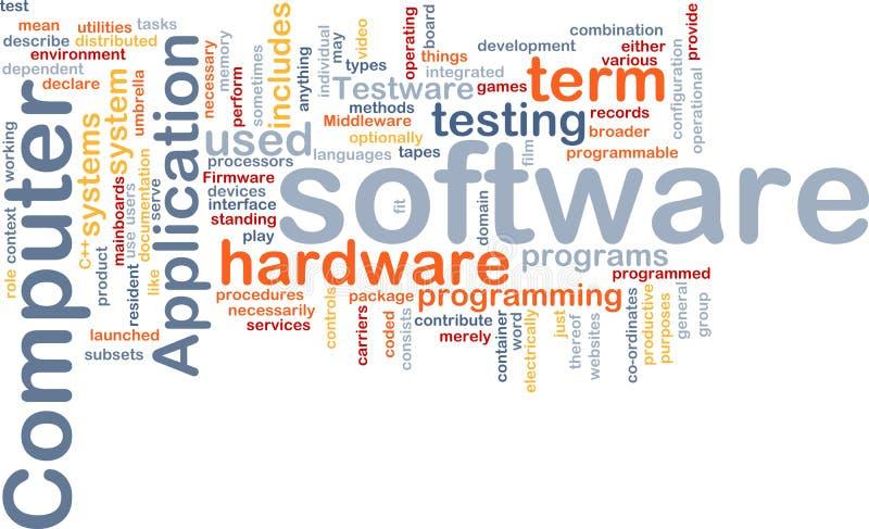 Nube di parola del software illustrazione vettoriale