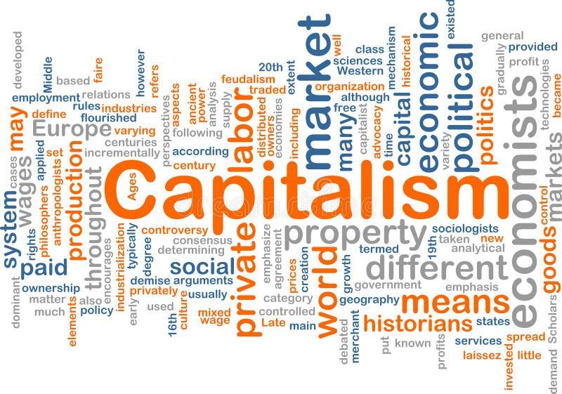 Nube di parola della gestione di capitalismo illustrazione vettoriale