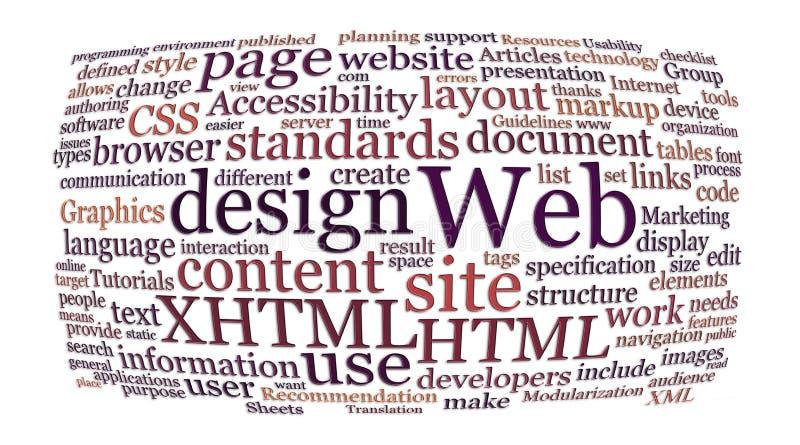 Nube di parola di disegno di Web illustrazione vettoriale