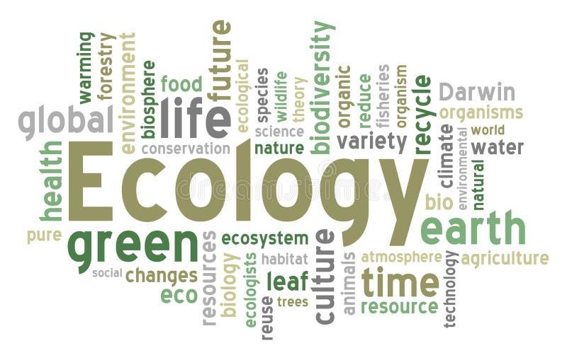 Nube di parola di ecologia illustrazione di stock