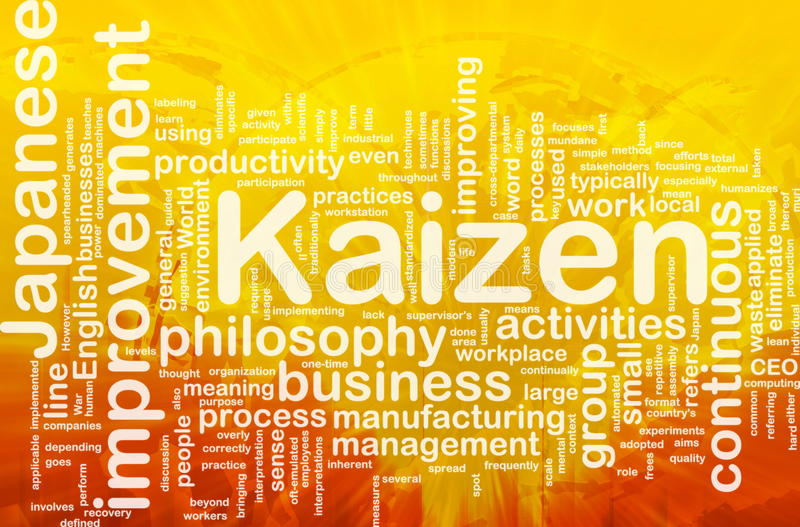 Nube di parola di Kaizen illustrazione di stock