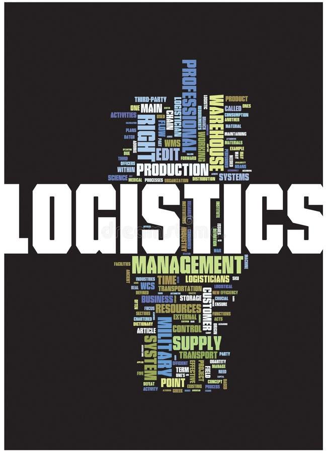 Nube di parola di logistica illustrazione vettoriale