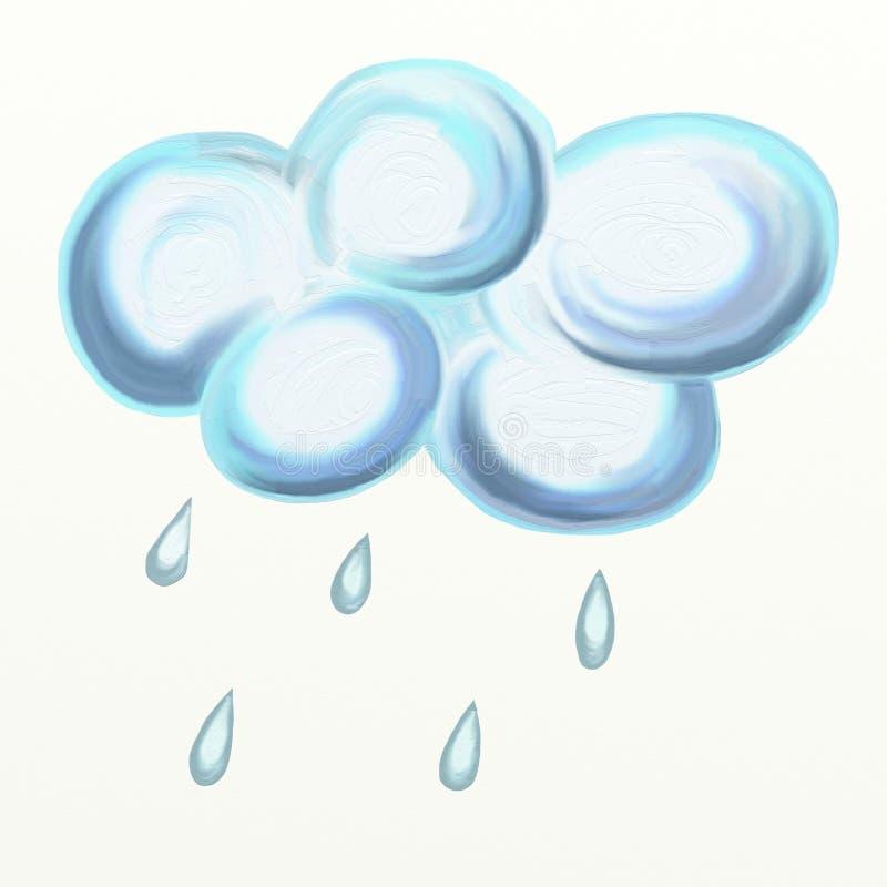 Nube di pioggia royalty illustrazione gratis
