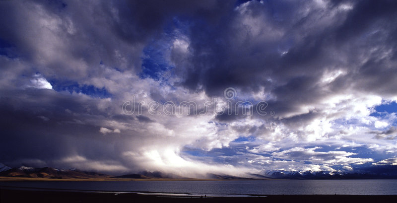 Nube di tempesta, supercell illustrazione vettoriale
